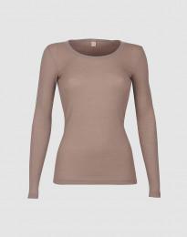 Merino Rippshirt für Damen altrosa