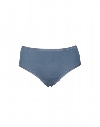 Damen Midi Slip aus merinowolle taubenblau