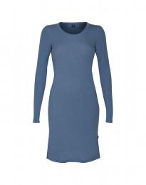 Langarm Nachthemd aus Merinowolle taubenblau