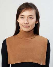 Damen Halswärmer aus bio Merinowolle karamell