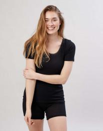 Merino T-Shirt für Damen Schwarz