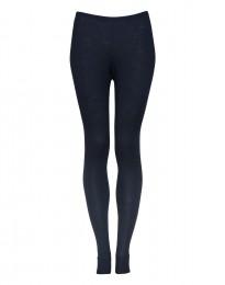 Leggings für Damen - Bio Merinowolle blau