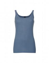 Merino Trägertop für Damen taubenblau