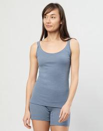 Merino Trägertop für Damen Blau