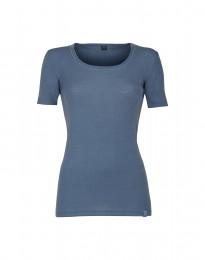 Merino T-Shirt für Damen taubenblau