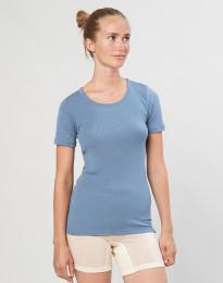 Merino T-Shirt für Damen Blau