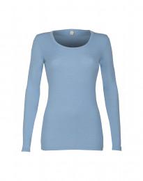 Langarmshirt für Damen - BIO Merinowolle hellblau