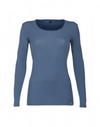 Langarmshirt für Damen - BIO Merinowolle taubenblau