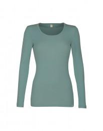 Langarmshirt für Damen - BIO Merinowolle hellgrün