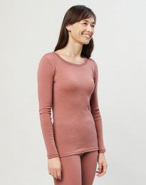 Langarmshirt für Damen Dunkelrosa