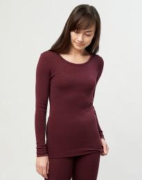 Langarmshirt Damen – Bio Merinowolle weihnachtsrot