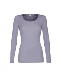 Langarmshirt für Damen - BIO Merinowolle flieder
