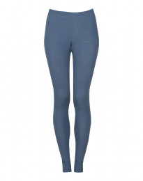 Leggings für Damen - BIO Merinowolle taubenblau