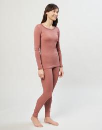 Merino Leggings für Damen Dunkelrosa