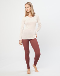 Merino Leggings Damen rouge