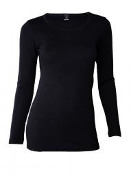 Dilling große Größen: Merinoshirt für Damen schwarz
