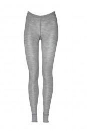 Merino Leggings Damen grau