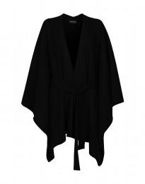 Poncho aus Wollfilz schwarz