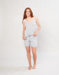 Shorts für Damen aus weicher Wolle und Seide grau