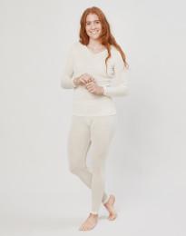 Leggings für Damen aus Wolle/ Seide natur