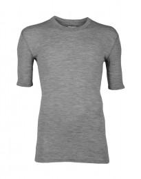 Merino Halbarmshirt für Herren grau melange