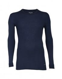 Herren Unterhemd - natürliche Merinowolle blau