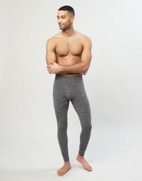 Merino Leggings mit Eingriff Grau gestreift
