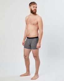 Merino Boxershorts für Herren graugestreift
