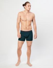 Merino Boxershorts in Rippstrick dunkelpetrol