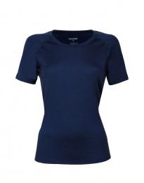 Exklusives Merino Shirt Damen dunkelblau