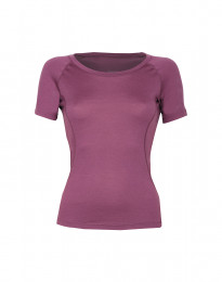 Exklusives Merino Shirt Damen lila