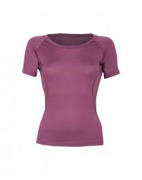 Weiches Damen T-Shirt - exklusive Merinowolle lila