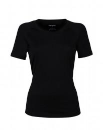 Exklusives merino shirt Damen schwarz