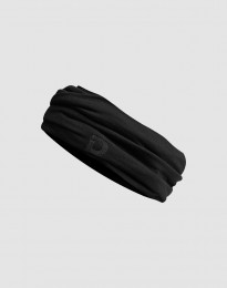 Schlauchschal für Damen aus exklusiver Merinowolle schwarz