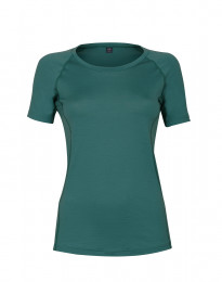 Exklusives Merino T-Shirt Damer aquagrün