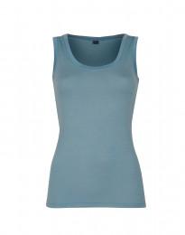 Exklusives Wollunterhemd Damen mineralblau