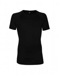 Exclusives Merino Shirt Herren schwarz
