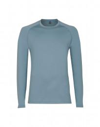 Langarmshirt für Herren - exklusiver Merinowolle mineralblau
