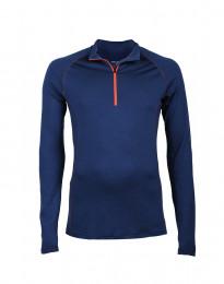 Exklusives Merino Shirt für Herren dunkelblau