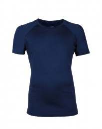 Exclusives Merino Shirt Herren dunkelblau