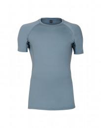 Exklusives Merino T-Shirt Herren mineralblau