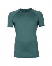 Exklusives Merino T-Shirt Herren aquagrün