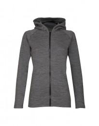 Frottee Jacke für Damen dunkelgrau meliert