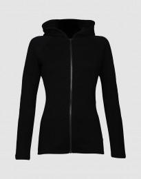 Frottee Jacke für Damen schwarz