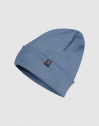 Mütze aus Wollfrottee taubenblau