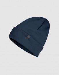 Mütze aus Wollfrottee Dunkelpetrol