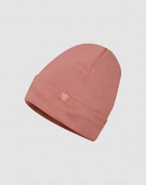 Mütze aus Wollfrottee Dunkelrosa