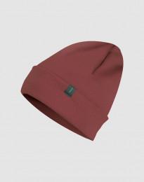 Mütze aus Wollfrottee Rouge