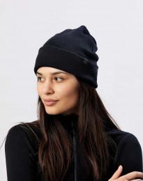 Mütze aus Wollfrottee schwarz