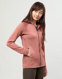 Damen Kapuzenjacke aus Wollfrottee Dunkelrosa